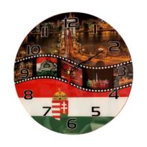 Magyarország címeres falióra BPC85 üveg falióra
