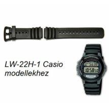 LW-22H-1 Casio fekete műanyag szíj a491acfce3