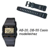 AB-20 DB-55 Casio fekete műanyag szíj 963ad446b2