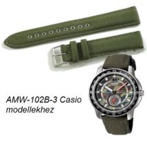 AMW-102B-3 Casio zöld szövet szíj adaaa85354