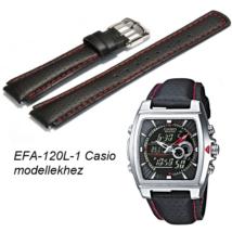 EFA-120L-1 Casio fekete bőrszíj c231b83369