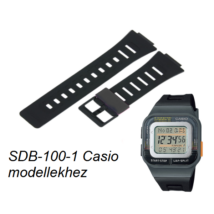 SDB-100-1 Casio fekete műanyag szíj fa21ff76a9