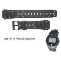 SDB-500 TS-100 TS-200 TRI-10 Casio fekete műanyag szíj 56f9ec108f