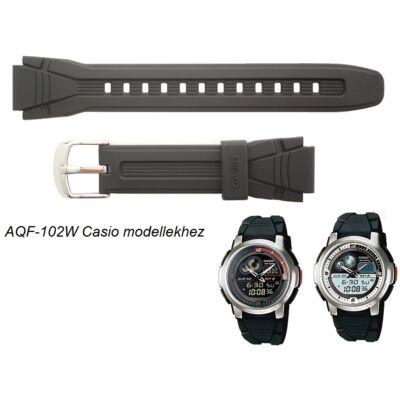 AQF-102 Casio fekete műanyag szíj
