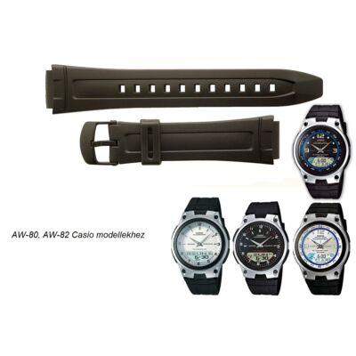 AW-80 AW-82 Casio fekete műanyag szíj