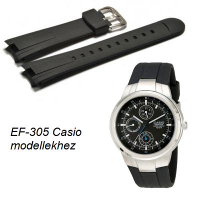 EF-305 Casio fekete műanyag szíj