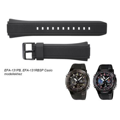 EFA-131PB-1, EFA-131RBSP-1 Casio fekete műanyag szíj