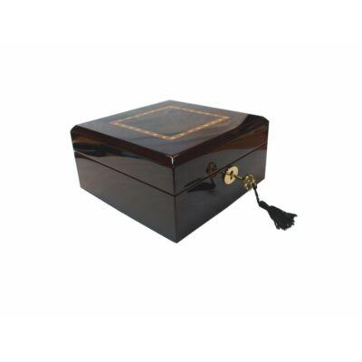 GC02-LG4-06EX Fényes fa óratartó doboz 6 db órához