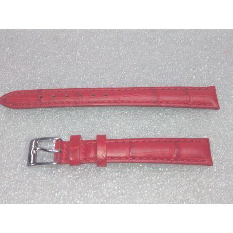 12-es Piros valódi bőr óraszíj 8.85-12-5 - rkt