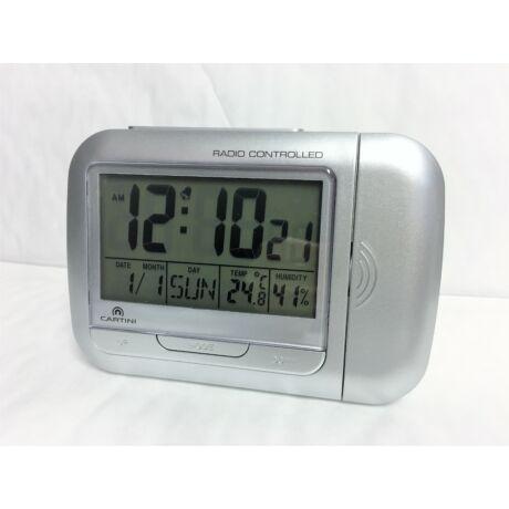 Cartini PR22S digitális, rádió kontrollos,kivetítős ébresztő óra