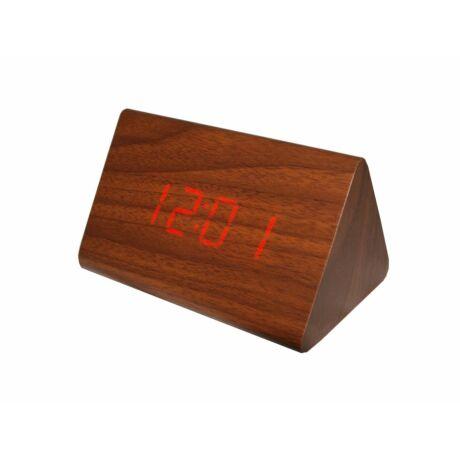 6834-5 Digitális barna fa asztali óra