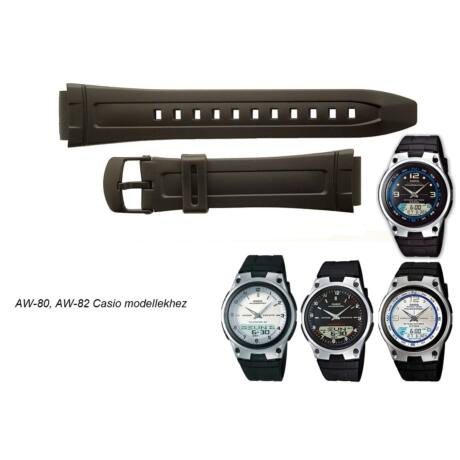 AW-80 AW-82 Casio fekete műanyag szíj - rkt