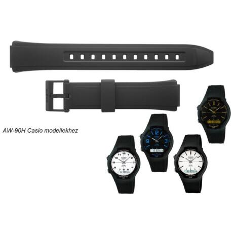 AW-90 Casio fekete műanyag szíj - rkt