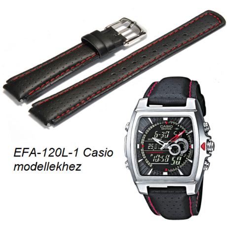 EFA-120L-1 Casio fekete bőrszíj