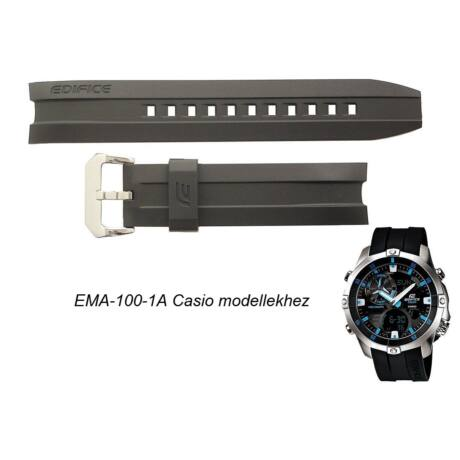EMA-100-1A Casio fekete műanyag szíj