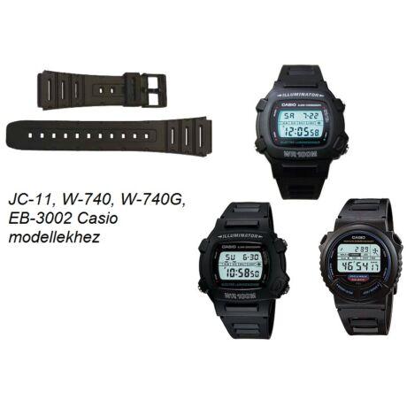 JC-11 W-740 W-740G EB-3002 Casio fekete műanyag szíj - rkt