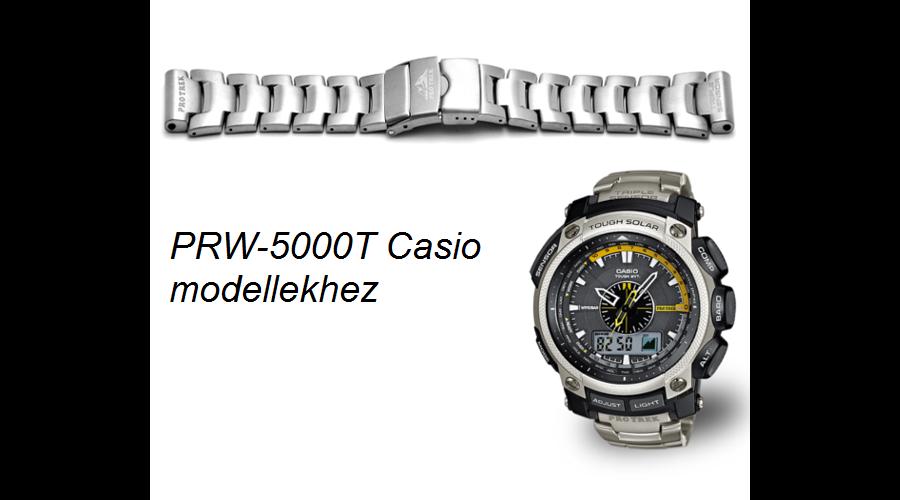 PRW-5000T Casio fémszíj
