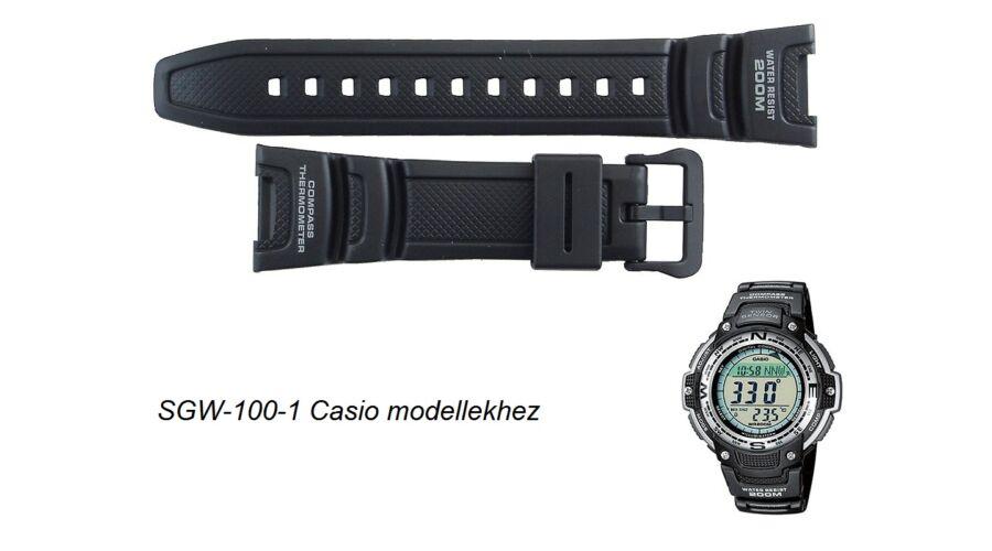SGW-100-1 Casio fekete műanyag szíj Katt rá a felnagyításhoz 04a8269e78